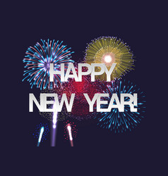 happy new year festive concept vector image