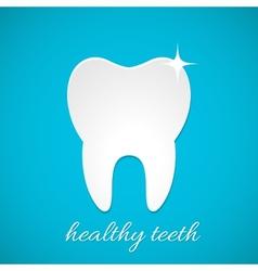 Healthy tooth icon vector image