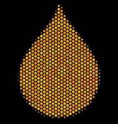 Hexagon halftone drop icon vector