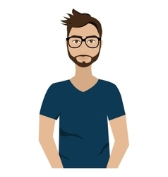 Hipster avatar man with colorful clothes vector