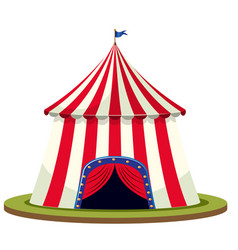 isolated circus tent on white background vector image