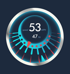 isolated speedometers for dashboard device for vector image