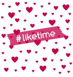 Liketime background for social media blog vector