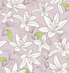 liliiis pattern vector image
