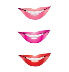 Lips smile vector