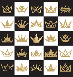 Luxury crown icon logo design template vector