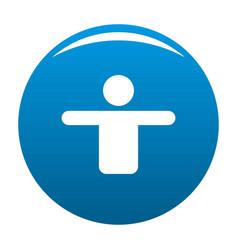 man icon blue vector image