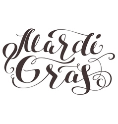 Mardi Gras lettering text for greeting card vector