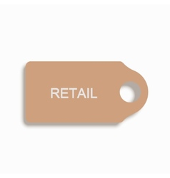 modern shopping icon on white background vector image