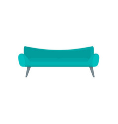 Modern sofa icon flat style vector