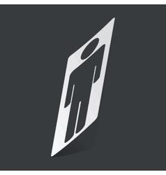 Monochrome man sticker vector image