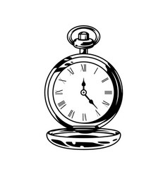 monochrome retro pocket watches vector image