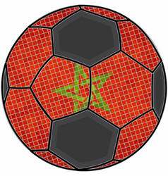 Morocco flag with soccer ball background vector