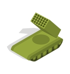 Multiple launch rocket system icon vector