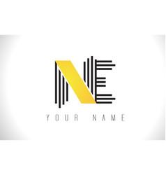 Ne black lines letter logo creative line letters vector