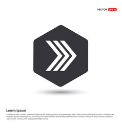 next arrow icon hexa white background icon vector image