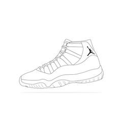 Nike air jordan 11 vector