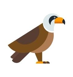 North American bald eagle raptor wildlife bird and vector image