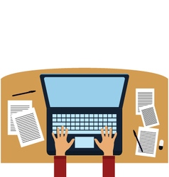 Office computer vector