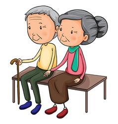 Old couple vector