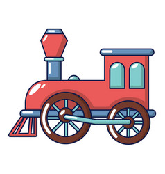 Old train icon cartoon style vector