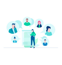 online meeting - flat design style vector image