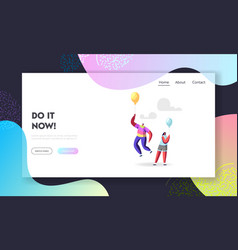 Outstanding individuality unique landing page vector