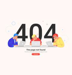 Page not found 404 error vector