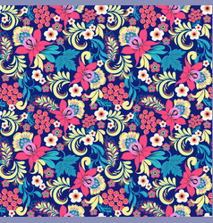 pattern in traditional vintage style folk vector image