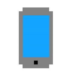 pixel phone mobile cell art cartoon retro game vector image vector image