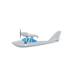 propeller flying boat isolated icon vector image