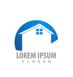 real estate home logo concept design symbol vector image