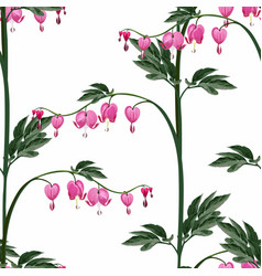 seamless background from a flowers ornament vector image