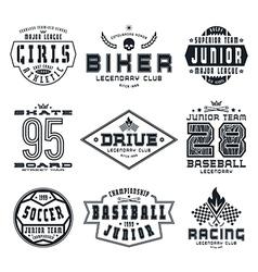 set sports emblems vector image