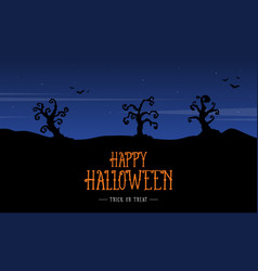 silhouette scenery halloween design background vector image