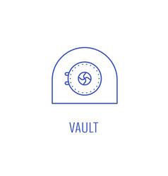 Simple vault emblem vector