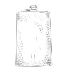 Sketch of military or hunting flask vector