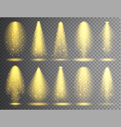 spotlight set bright christmas glowing vector image