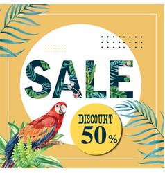 Summer social media advertising holiday on sale vector