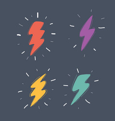 thunderbolt signs icon vector image