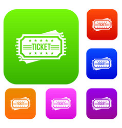 ticket set collection vector image