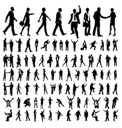 Very many high quality business people silhouettes vector