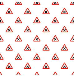warning of intersection road pattern seamless vector image