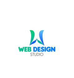 web design studio emblem vector image
