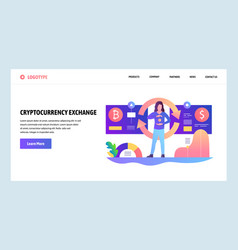web site design template cryptocurrency vector image