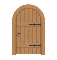Wooden door interior apartment closed door with vector