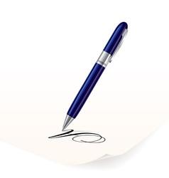 Writing pen vector