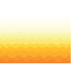 yellow wavy background vector image