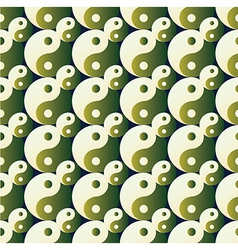 ying yang pattern on background vector image