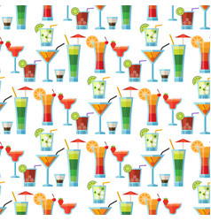 alcoholic cocktails seamless pattern background vector image